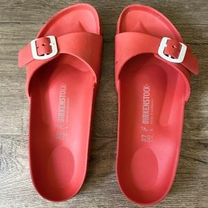 Birkenstock's Madrid Eva red rubber sandals 37